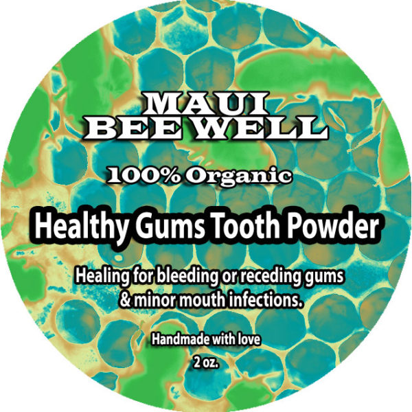 organic tooth powder