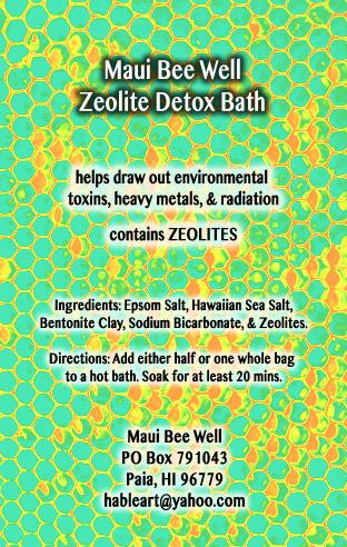 Zeolite detox bath